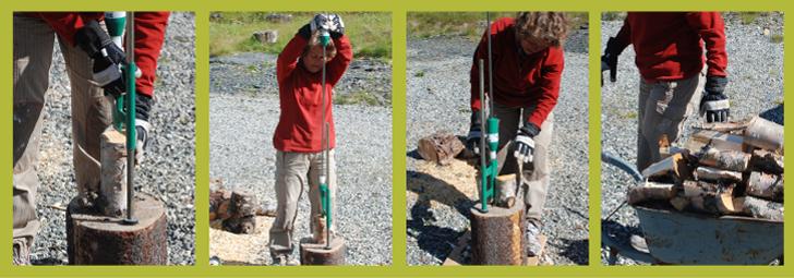 De Smart-Splitter maakt houtkloven eenvoudig!