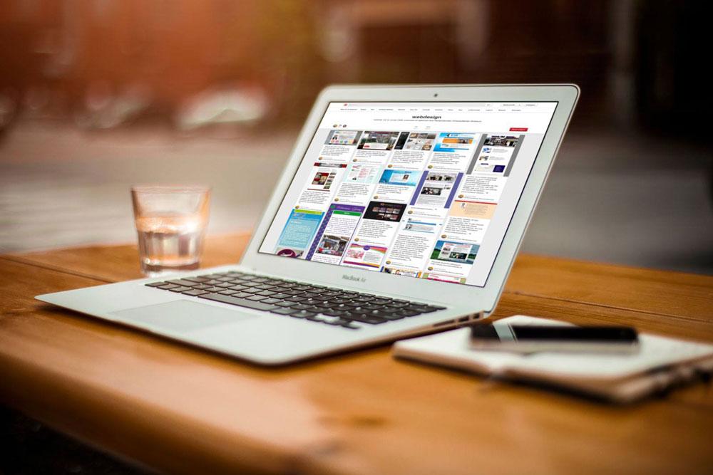 Eenvoudig te onderhouden website